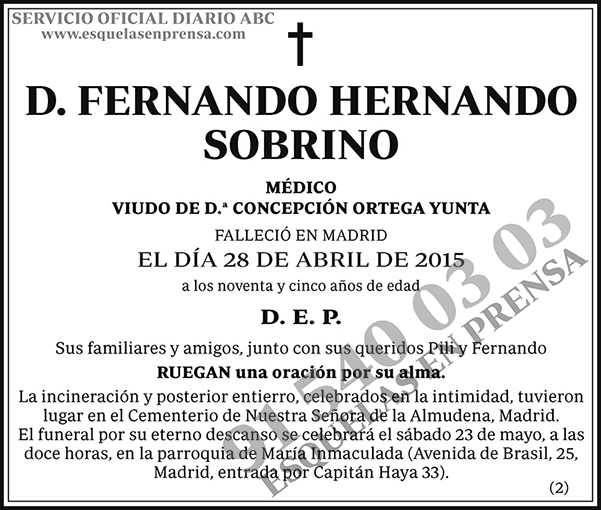 Fernando Hernando Sobrino